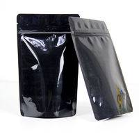 black stand up pouch,doypacks with ziplock ,black stand up pouch