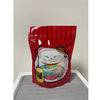 Christmas gift packaging plastic stand up zipper bag