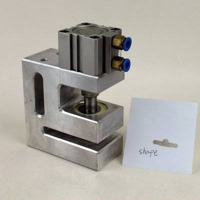 Pneumatic Euro slot hole puncher for plastic packaging bags