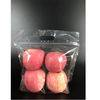 Plastic recyclable fresh produce packaging bags with zipper for apples