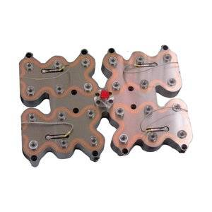 Multi-cavity hot runner manifold block with two layers runner
