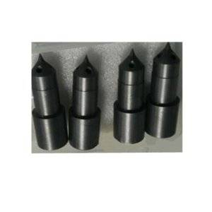 Hot runner nozzle tips for glass fiber material with abrasion resistant