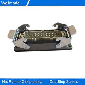 24Pin Connectors Harting standard 09330242616&09300240301; Hot Runner Connectors