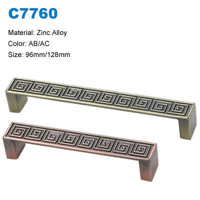 Economic Cabinet Handle Zinc Furniture pull Antique handle factory  C7760