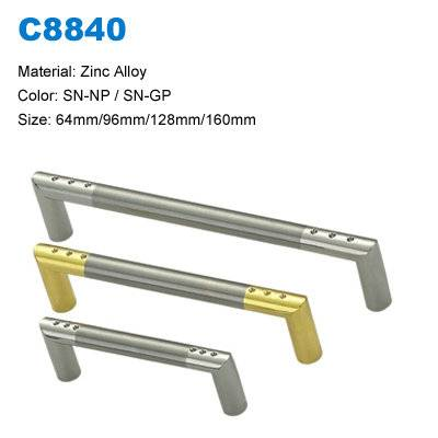 Economic Cabinet Handle Zinc Furniture pull  Antique furniture handle supplier C8840
