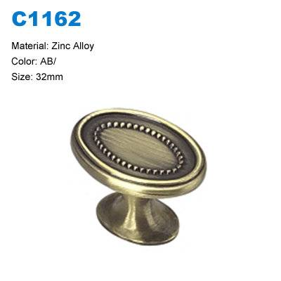 Economic Cabinet Knob Zamak Furniture Knob Decorative knob China factory C1162