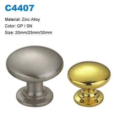 Economic Cabinet Knob Zamak Furniture Knob Decorative Handle factory C4407