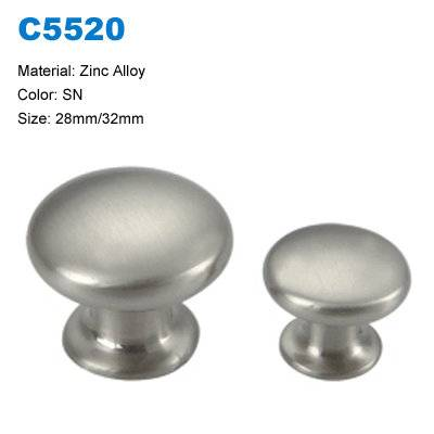 Economic Cabinet Knob Zinc Furniture Handle Dresser Handle china factory C5520