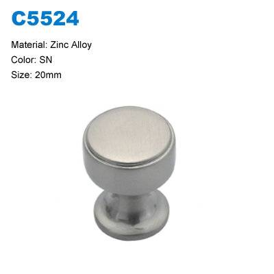 Economic Cabinet Knob Zinc Furniture Handle Dresser Handle china factory C5524