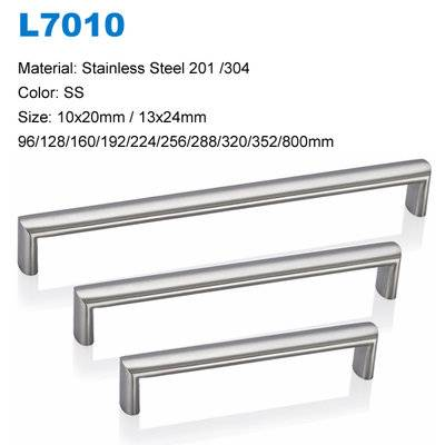 Stainless Steel kitchen cupboard door handles SS L7010