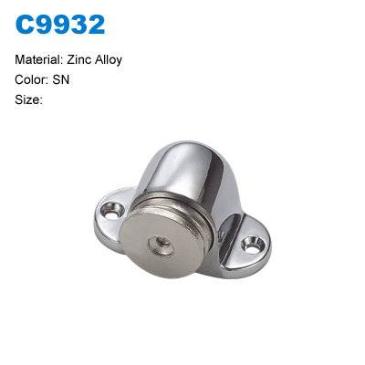 Zinc Door stopper with magnetic / sliding door stopper factory C9932