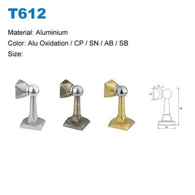Aluminium door stopper factory Door stopper with magnetic Oxide Door stoper supplier T612