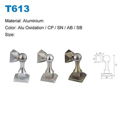 Aluminium door stopper factory Door stopper with magnetic Oxide Door stoper supplier T613