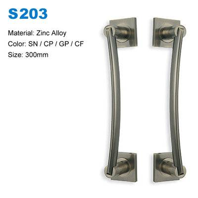 Stainless steel/Zinc door pull  handles big glass decorative door pulls S203 factory supplier  BBDHOME