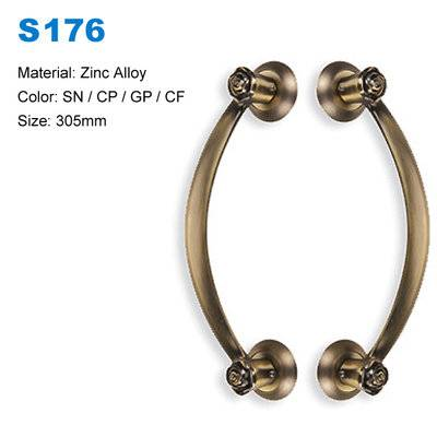 Antique recessed pull handles rust-proof zamak door handles drawer/closet/wardrobe door pulls  factory BBDHOME S176