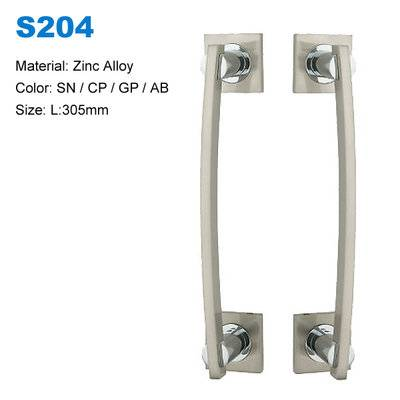 Cabinet pull Decoratvie door handle Recessed door pull  Zamak door handle Entrance door pull China factory S204