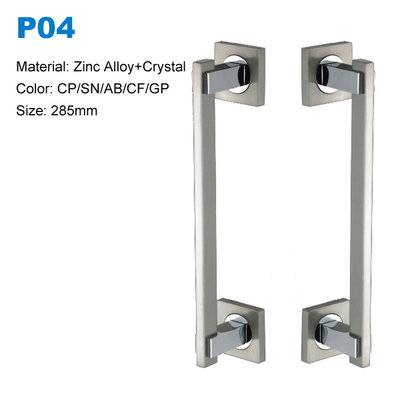 shower door pull handle Decorative entrance handle  Zamak door pull  Door knob BBDHOME P04