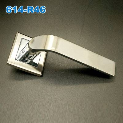 Lever handle/Door handle/mortise lock/rose handle/двери межкомнатные  ручки  614-R46