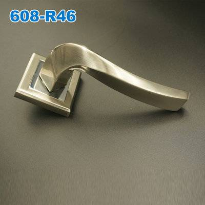 Lever handle/Door handle/mortise lock/rose handle/двери металлические  ручки    608-R46