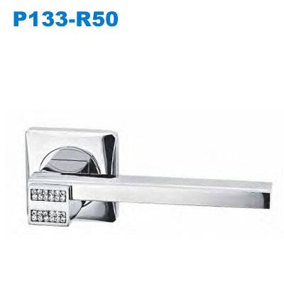 Lever handle/Door handle/mortise lock/crystal handle/дверные замки    P133-R50