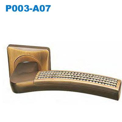 Lever handle/Door handle/mortise lock/crystal handle/межкомнатные двери   P003-A07