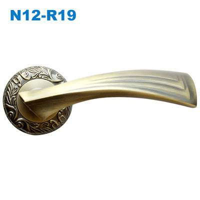 door handle/rose handle/rostte handle/door handle supplier/двери металлические  ручки N12-R19