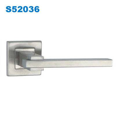 stainless steel lever door handle/ door handle with lock/Accesorios/Bisagras/fechaduras  S52036