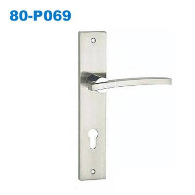 zinc door handle/ plate door handle/door lock/drzwi zewnetrzne/Ручки межкомнатные раздельные 80-P069