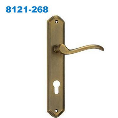 zamak exterior door handle/door handle lock/plate handle/Drzwi/Ручки замки 8121-268