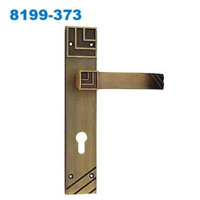 mortice lock/mortise lock/plate door handle/Klamki na długim szyldzie/Завёртки и накладки  8199-373