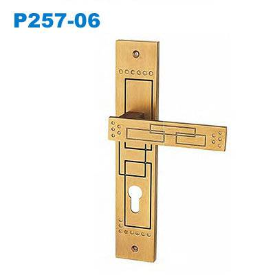 zinc door handle/ plate door handle/door lock/двери входные/ Puxadores de Porta P257-06