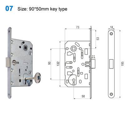 lock body/cylinder lock/door lock/Portal/Броненакладка  07 Size:90*50mm key type