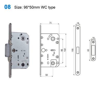 exterior door lock/security lock mechanism/yale lock/Akcesoria/замки 08 Size:96*50mm WC type