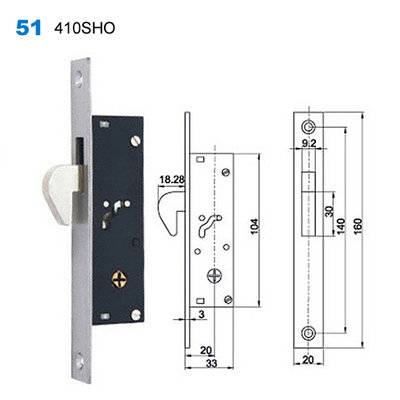 lock body/door handle lock/lock mechanism/Conjuntos de Interior /Ручки на планке 50 410HO
