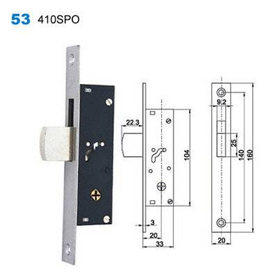 lock body/cylinder lock/door lock/Conjuntos de Interior/Ручки на планке 53 410SPO