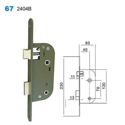 lock body/door handle lock/lock mechanism/Drzwi egoline/двери входные 67-2404B