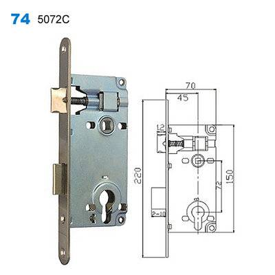 lock body/cylinder lock/door lock/drzwi verte/металлические двери  74 5072C