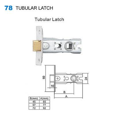 lock body/cylinder lock/door lock/Drzwi egoline/двери входные 78  TUBULAR LATCH
