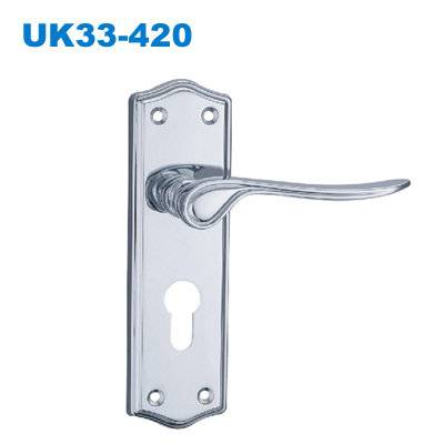 zinc door handle/UK plate door handle/South Africa door lock/двери ручки/Puxadores de Porta UK33-420