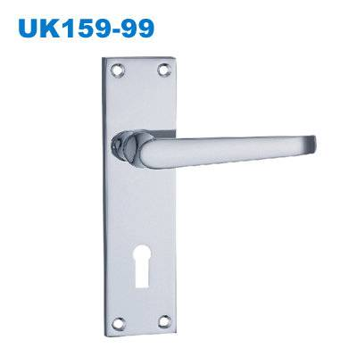 zinc door handle/UK plate door handle/South Africa door lock/TÜRGARNITUR/Conjuntos deEntradaUK159-99