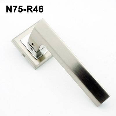 Exteriordoorhandle/Handle Lock/Klamki na krotkim szyldzie/Ukraine door handle/замков N75-R46