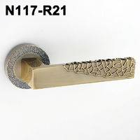 Exteriordoorhandle/Handle Lock/Klamki na krotkim szyldzie/Ukraine door handle/замков N117-R21