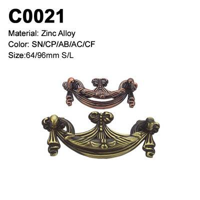 Classic Economic Cabinet Handle Zamak Furniture Decorative handle single hole cabinet handle C0021