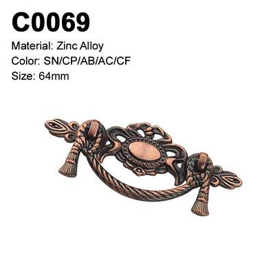Classic Economic Cabinet Handle Zamak Furniture Decorative handle single hole cabinet handle C0069