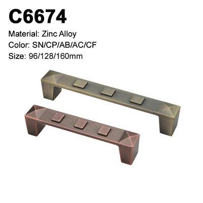 Classic Cabinet Handle Zamak Furniture Decorative handle single hole cabinet handle C6674