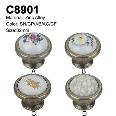 Ceramic Furniture Decorative handle ceramic cabinet handle C8901