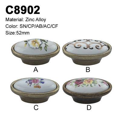 Ceramic Furniture Decorative handle ceramic cabinet handle C8902