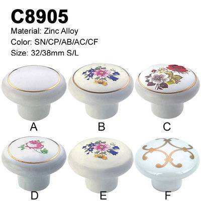 Ceramic Furniture Decorative handle ceramic cabinet handle C8905