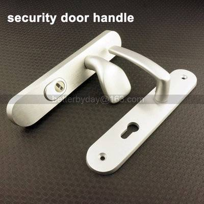 door handle/zinc handle/plate door handle/Klamka drzwiowa/дверные  security door handle