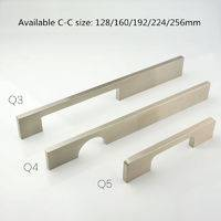 Cabinet Handle Furniture Decorative handle Aluminum Cabinet Handle Q3 Q4 Q5